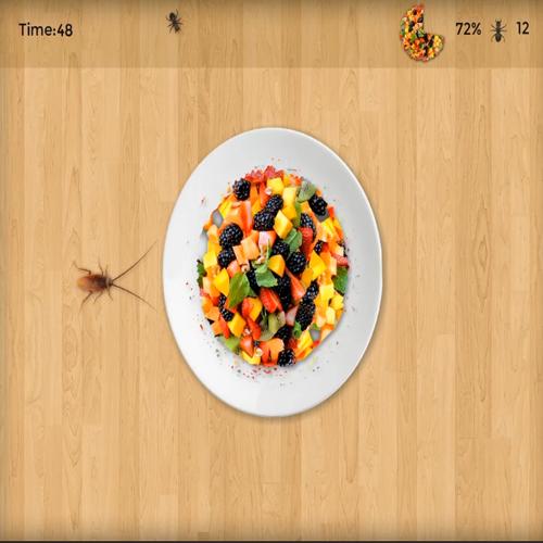 Fruit Defender Game For Interactive Floor Interactive